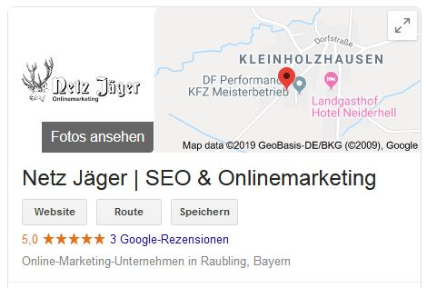 SEO Rosenheim Google My Business