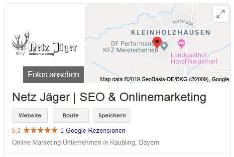 SEO Rosenheim Google My Business